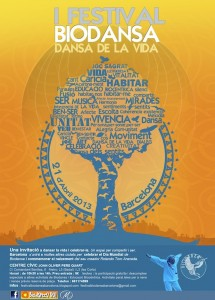 Cartell Festival Biodansa 2013 Barcelona